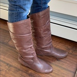 Mine west brown leather boot size 8